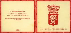 Kaffee Köhler Deckblatt Karte